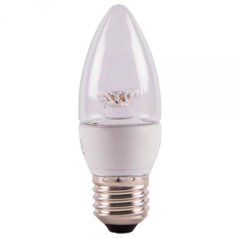 Bell 7W LED Clear Candle Warm White ES 500lm Non-Dim 05822