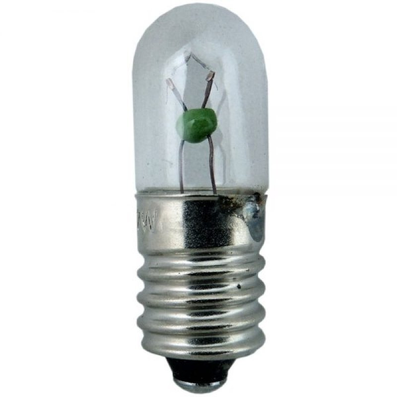 Tubular Indicator Lamp 10mm 7v 2w E10/MES