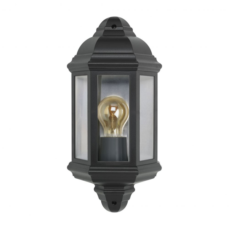 Bell Retro Vintage Half Lantern Black IP54 Rated 10360
