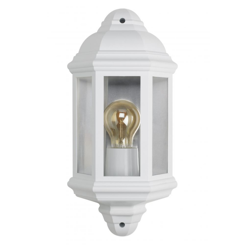 Bell Retro Vintage Half Lantern White IP54 Rated 10364