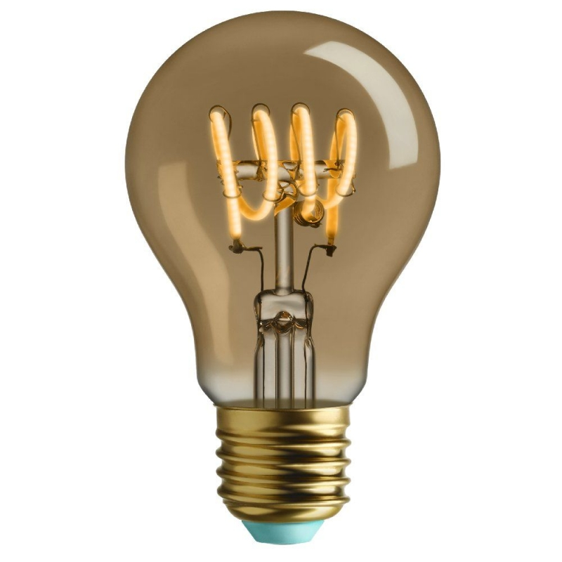 Plumen Whirly Wanda 4W 2000K 140Lm Gold Glass GLS ES LED