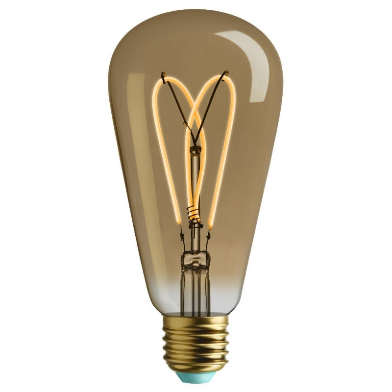 Plumen Whirly Willis Filament ST64 4W E27 2000k Dimmable 140Lm