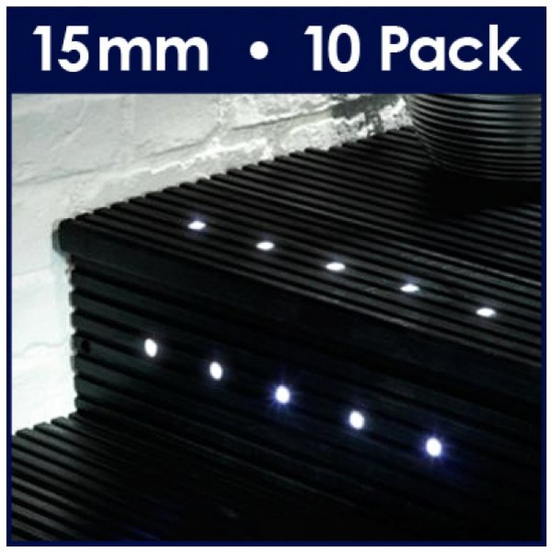 MiniSun 10 Way 15mm Cool White LED Deck Lights 16677