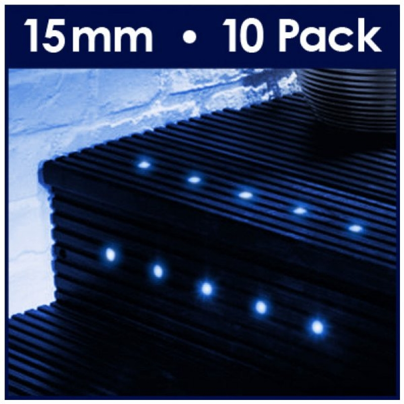 Minisun 10 Way 40mm Blue Led Deck Lights 16138