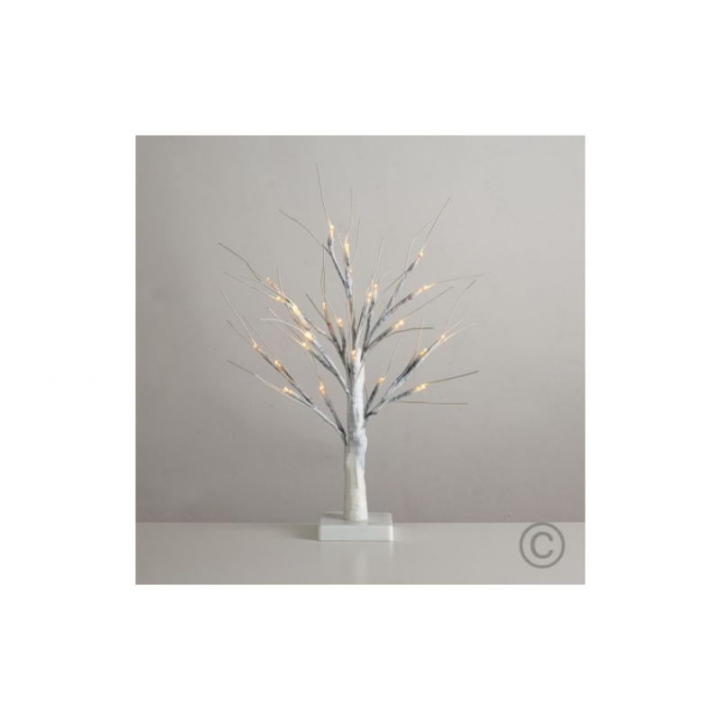 45cm WHITE Tree with 24 LED's Warm White Battery Operated