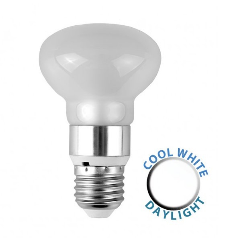 MiniSun 6W LED R63 Frosted Glass Reflector Bulb ES 6500K