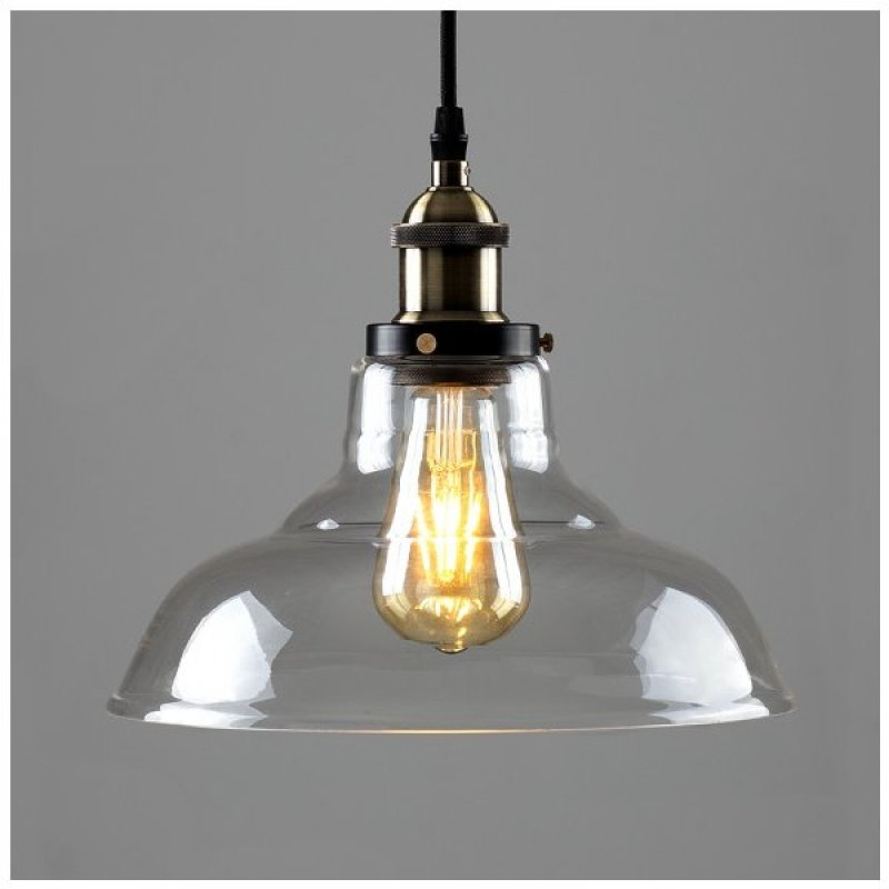 Steampunk Wallace Electric Pendant Clear Glass Shade