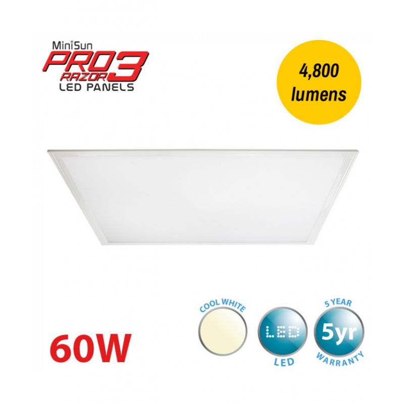 MiniSun Pro3 Razor 600mm x 1200mm LED Panel 4000K 23363