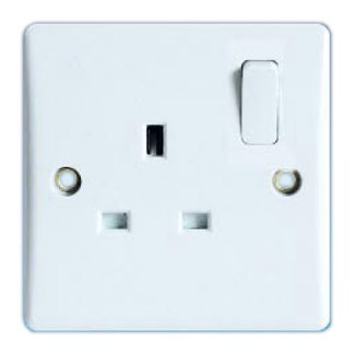 13Amp Single Switched Socket