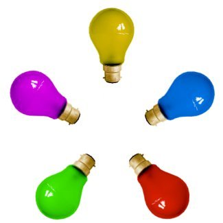 Pack Of 10x 25W GLS Coloured BC Light Bulbs