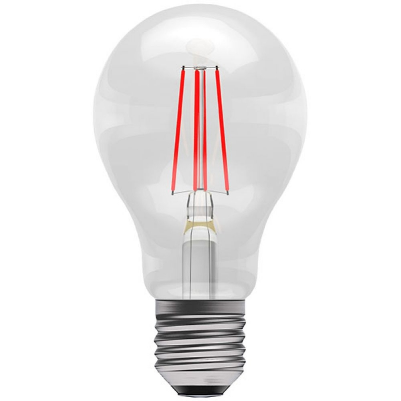 BELL 60066 4W Red Coloured LED Filament GLS ES/E27 Bulb