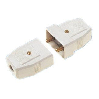 Connector 5Amp 2 Pin Nylon White