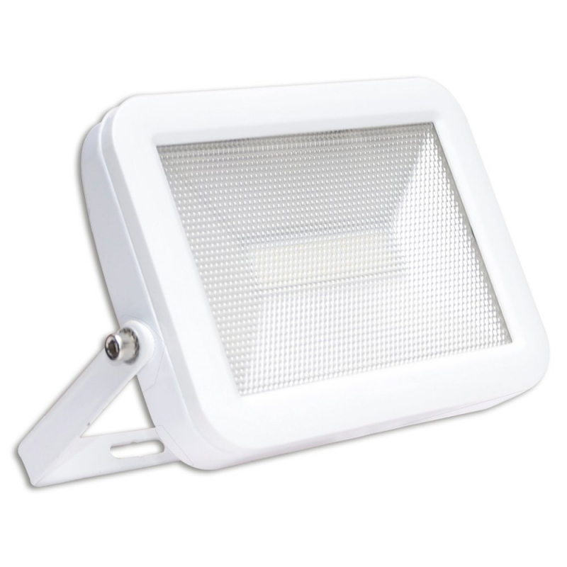 Lyveco 20W Led Slim Floodlight With PIR White IP44 Detection Angle 120º