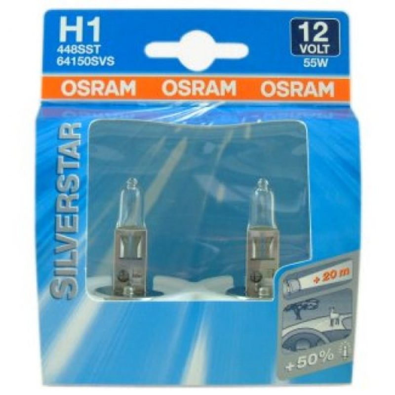 Osram Silverstar H1 12V 55W Car Headlight Bulb
