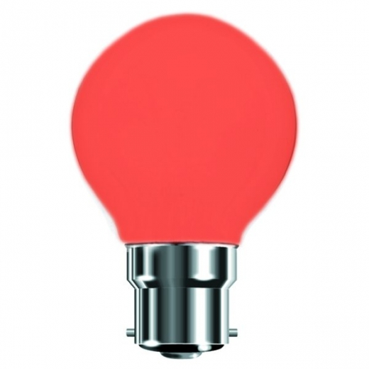 Red 25W BC Incandescent Golf Ball Lamp B7450R