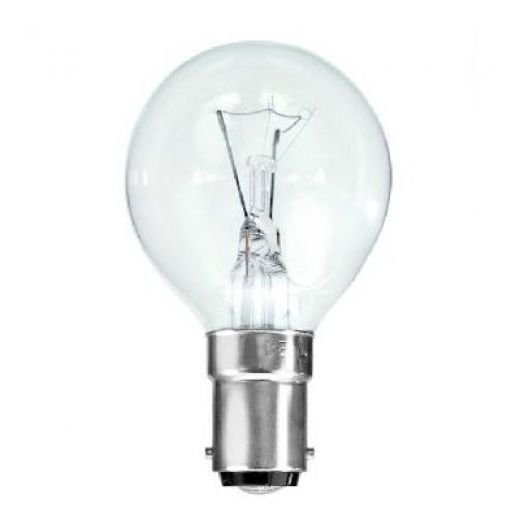 40Watt Clear  SBC Golf Ball Lamp