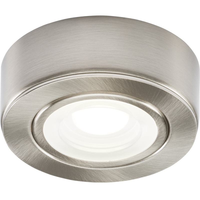 240V 2W LED Brushed Chrome Under Cabinet Downlight 4000K CABBCCW