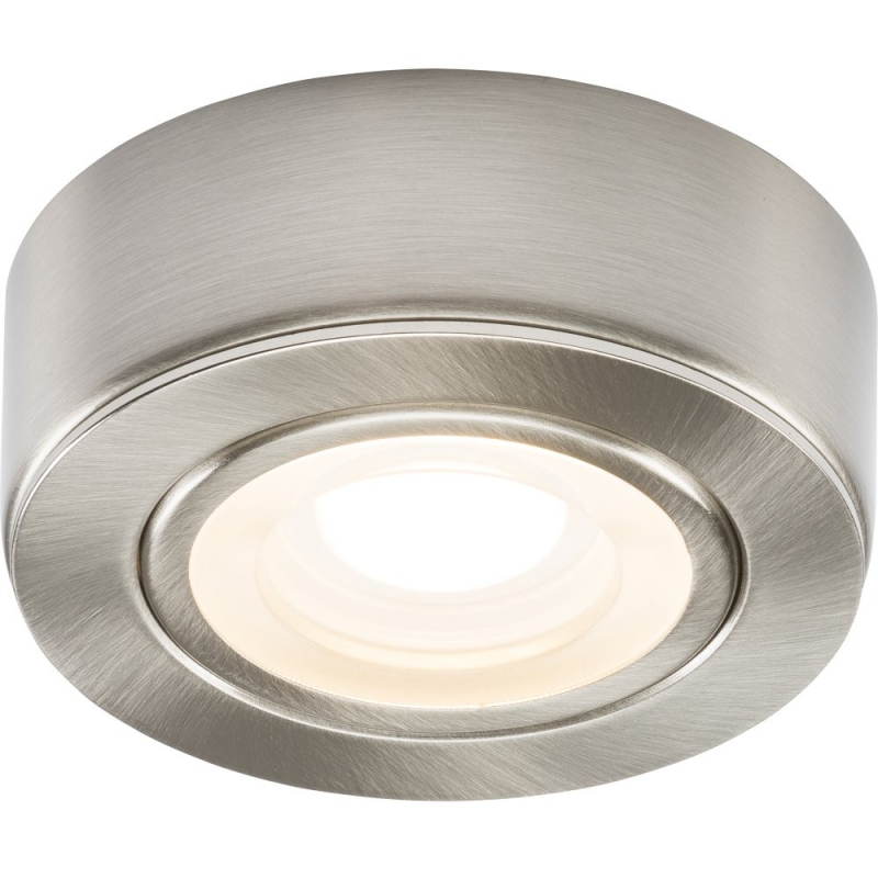 240V 2W LED Brushed Chrome Under Cabinet Downlight 3000K CABBCWW