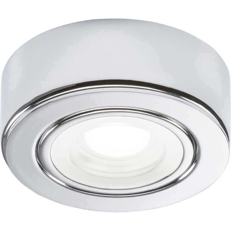 240V 2W LED Chrome Under Cabinet Downlight 4000K CABCCW