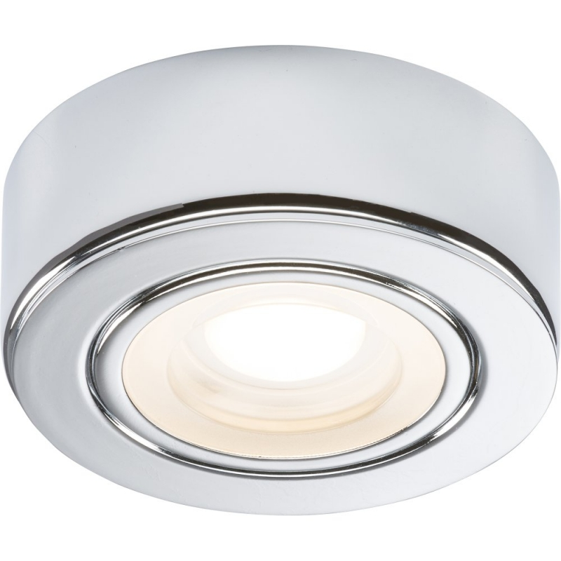 240V 2W LED Chrome Under Cabinet Downlight 3000K CABCWW