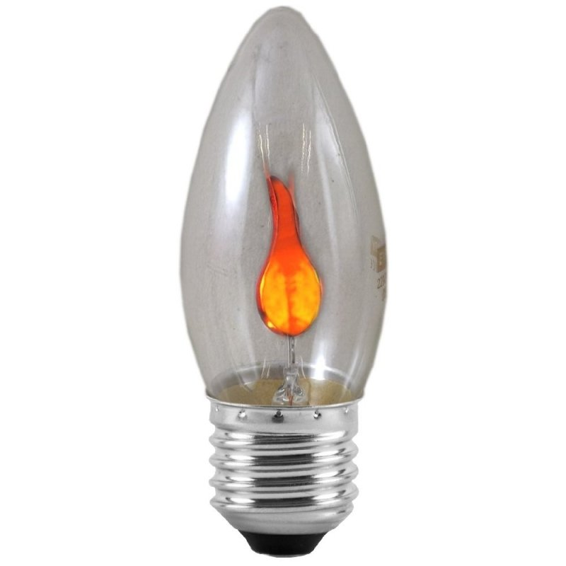 3 Watt Flicker Flame Effect Es Candle Bulb