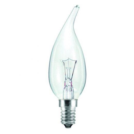 Clear 40Watt SES Double Life Flared Candle 00882