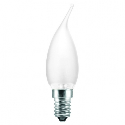Flame Tip Frosted Pearl 40w Ses E14 Candle Bulb