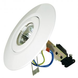 White GU10 Low Voltage Ceiling Converter CR80WH