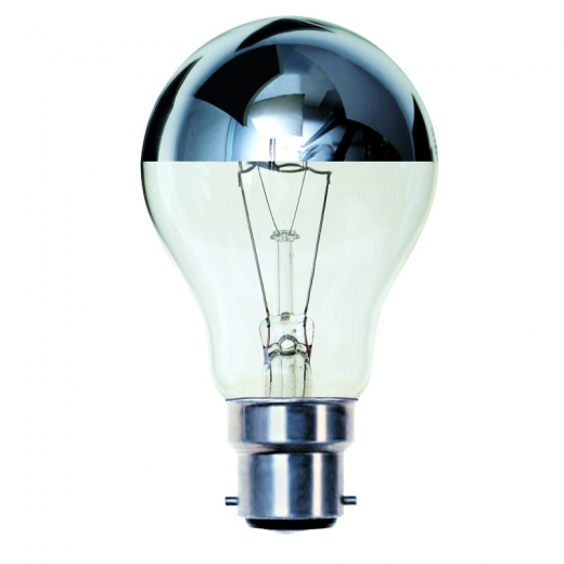 Crown Silver BC 60W Lamp 03011