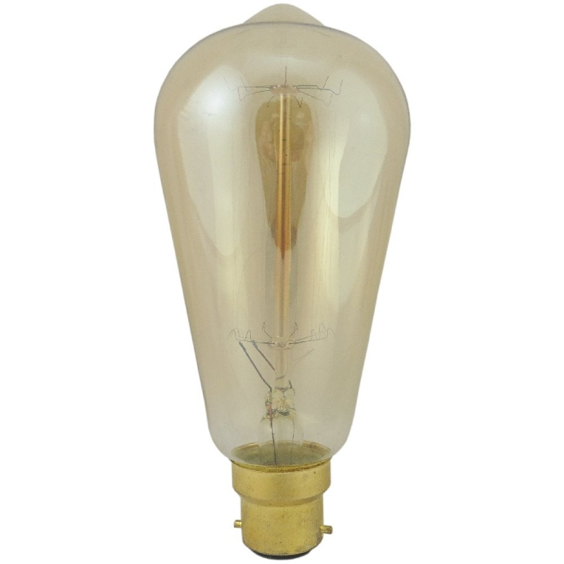 Deco Classic Rustika 40watt BC Incandescent Light Bulb DECOCLASSIC40BC