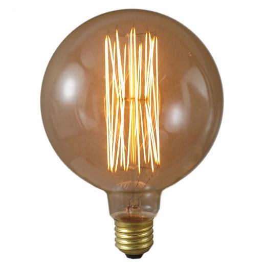 Deco Globe 60W ES 125mm Squirrel Cage Lamp 08083