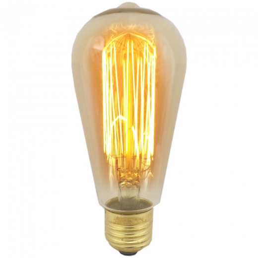 Bell 01477 Vintage Squirrel Cage Lamp 40W ES Amber Tint