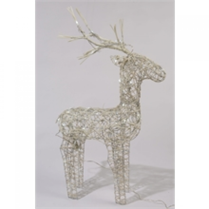 Wicker 83cm LED Deer Cool White - 331186