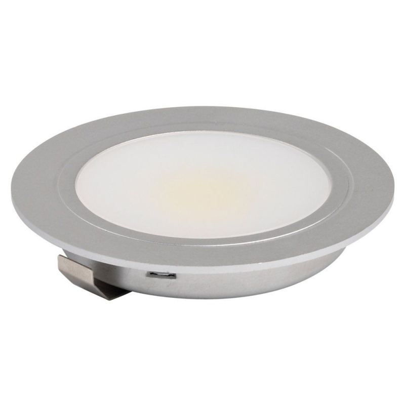 Leyton Lighting Warm White Recessed 3W LED Downlight Aluminium