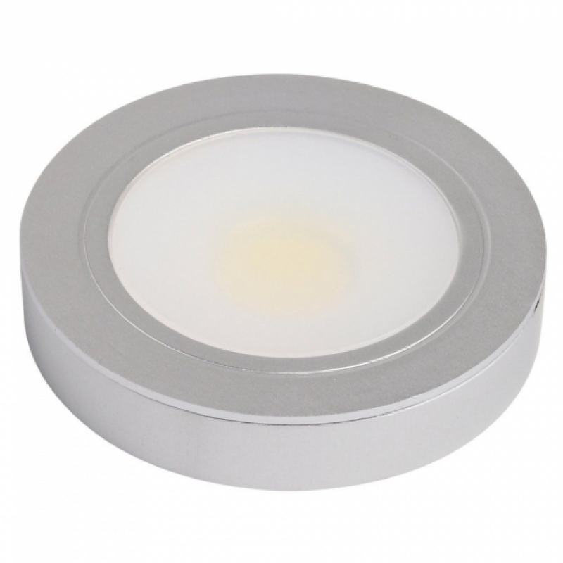 LED 3W Recessed Downlight Warmwhite Mounted Aluminium