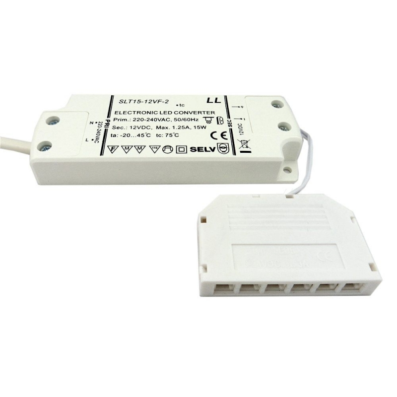 Leyton Lighting LED Driver 12V 15W TOP 6Way Micro-Port