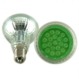 Green LED Light Bulb SES