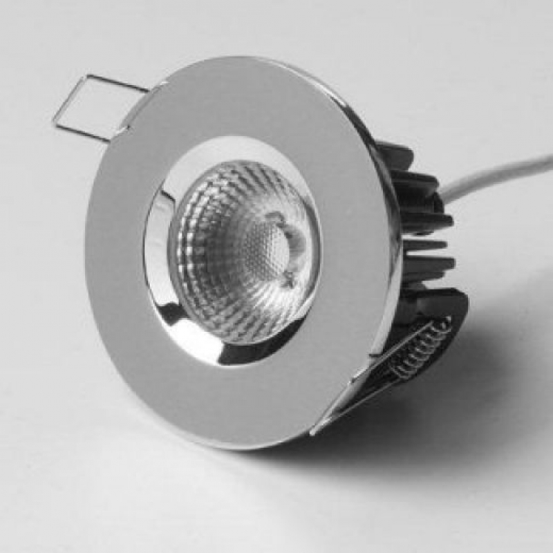 ELAN-LED Reflector COB Fixed Fire Rated Downlight Fitting 3000K Chrome