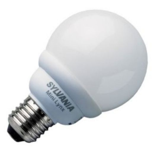 0031055 Sylvania 5W E14 Mini-Lynx Compact Ball Light Bulb