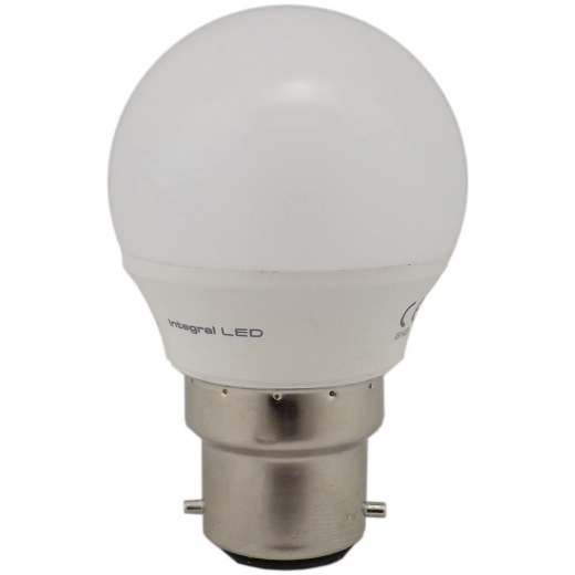 Integral Golf Ball 4W BC Non Dimmable 2700K