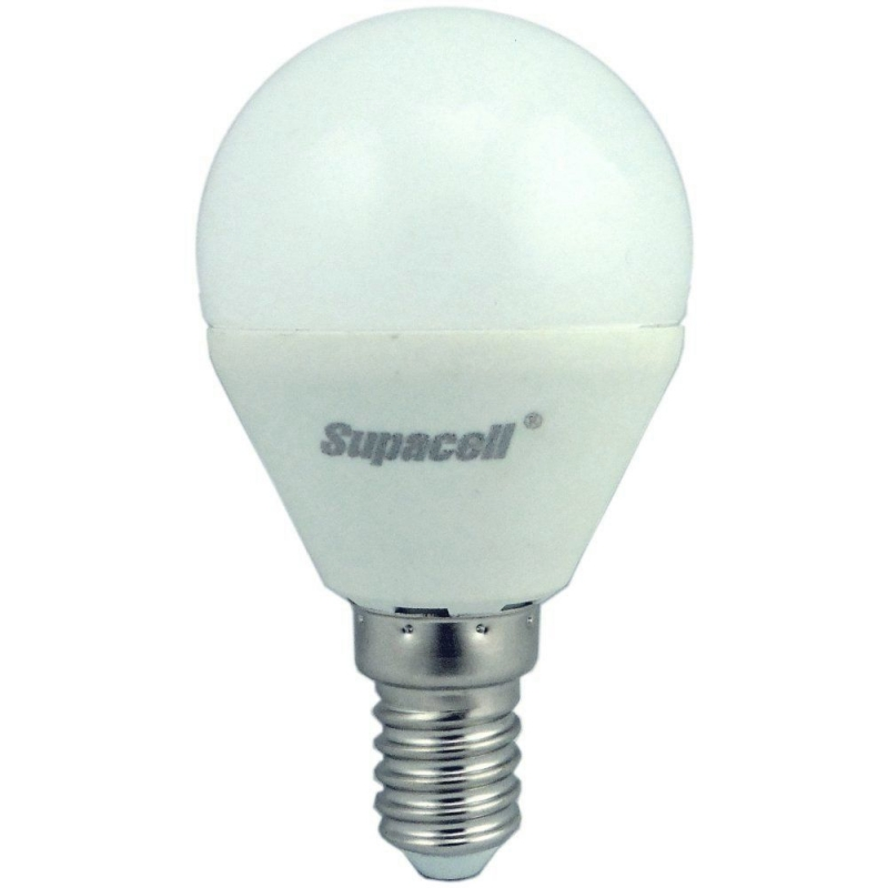 Supacell 5W (40W) LED Golfball 425lm SES/E14 3000k Non-Dim Opal