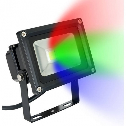 10W RGB LED Colour Changing Floodlight FL10RGB & Remote