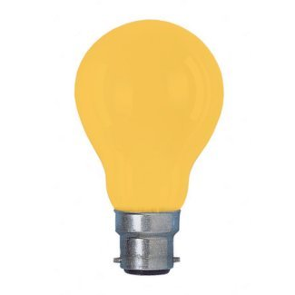 Colourglazed Standard GLS Amber BC 25W Lamp