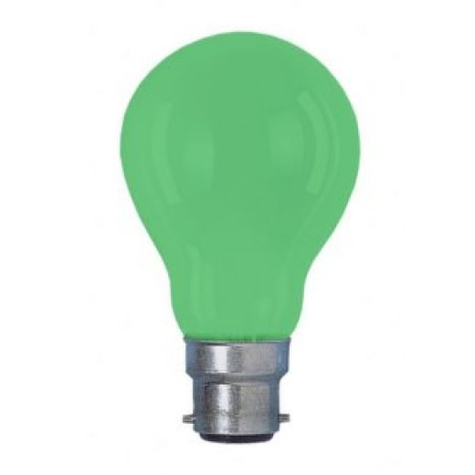 Colourglazed Standard GLS Green BC 25W Lamp