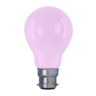 Colourglazed Standard GLS Pink BC 25W Lamp