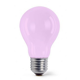 Colourglazed Standard GLS Pink ES 25W Lamp