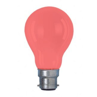 Colourglazed Standard GLS Red BC 25W Lamp