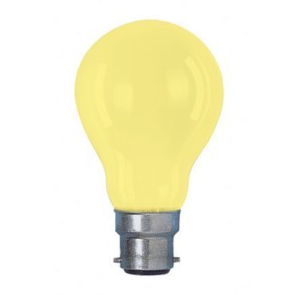 Colourglazed Standard GLS Yellow BC 25W Lamp