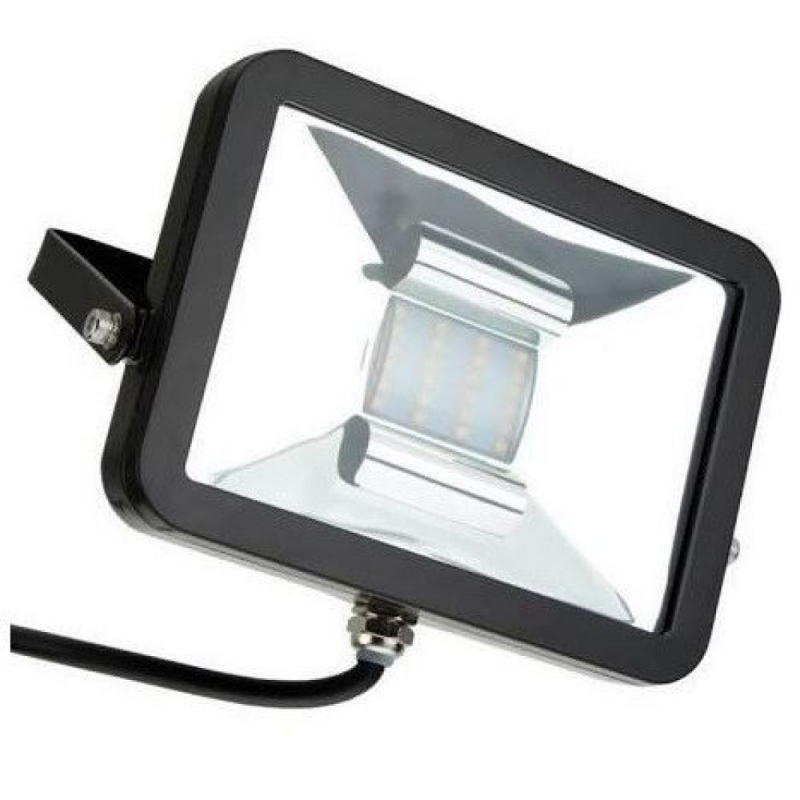 Deltech FLA10GR Slimline Black Finish 10W LED Green Floodlight