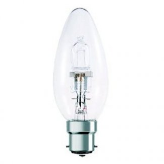 18Watt BC Clear Halogen Candle Bulb